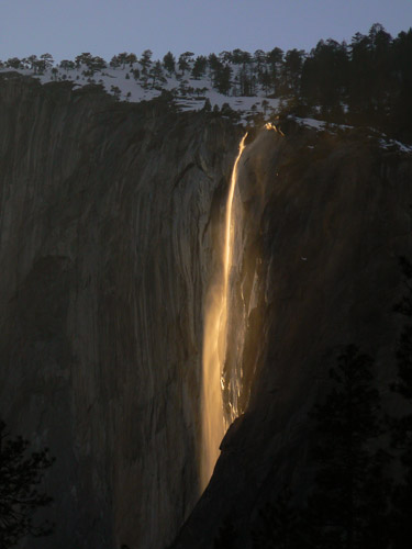 Natural Firefall at Horsetail Falls