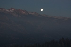 Full Moon rising over the Clark Range