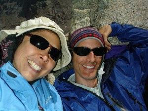 Celebrating our Anniversary atop Mt Tyndall